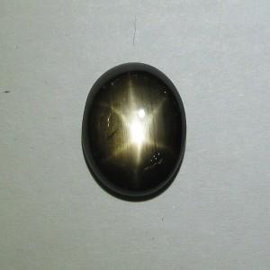 Natural Black Star Sapphire 5.8 carat