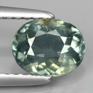 Greenish Blue Sapphire 1.25 carat Natural Unheat Untreat