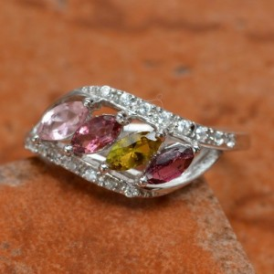 Cincin Silver Tourmaline Ring 6US