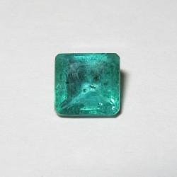 Natural Emerald Square 1.1 carat Kualitas Luster Top!
