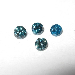 Round Blue Diamond 2mm Si-2