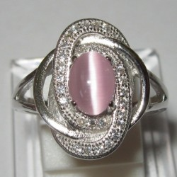 Cincin Pink Cat Eye 7US