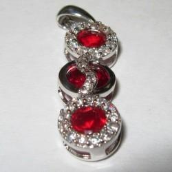 Liontin Batu Garnet Silver 925