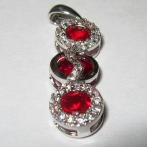 Liontin Batu Garnet Silver 925 sangat exclusive