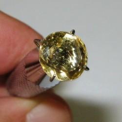 Round Sparkling Yellow Citrine 2.05 carat
