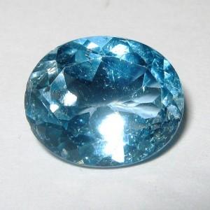 Natural Blue Topaz 4.00 carat Warna dan Luster Atraktif