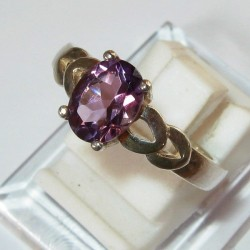 Cincin Amethyst Silver 925 Ring 7US