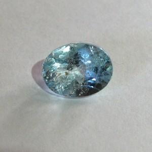 Batu Permata Sky Blue Topaz 2.10 carat dari Brazil