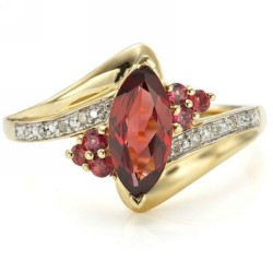 Cincin Gold Filled Model Garnet CZ Ring 7US