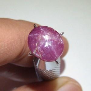 Batu Ruby Star 5.00 carat Natural Unheat Keaslian Terjamin