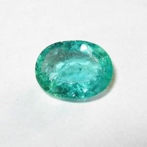 Oval Emerald 0.91 carat Fine Inclusions