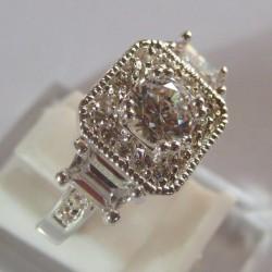 Cincin Nikah Vintage Silver 925 Ring 7US