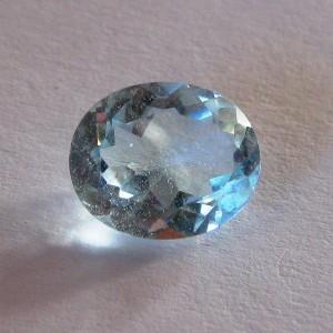Batu Permata Oval Sky Blue Topaz 3.90 carat