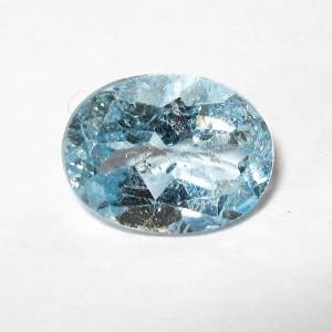 Natural Blue Topaz 2.15 carat Batu Permata Asli Harga Imitasi