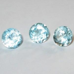 3 Round Blue Topaz 6mm