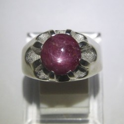 Cincin Silver Star Ruby Ring 9US