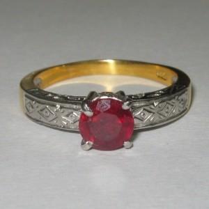 Cincin Ruby Silver 925 Ring 9US untuk Mempelai Pria