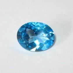 Batu Permata Siwss Blue Topaz 2.42 carat Kualitas Bagus
