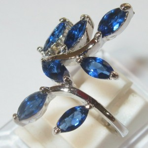 Cincin Gold Filled Model Blue Sapphire Cz
