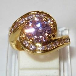 Cincin Wanita Ring US GF Pink Sapphire CZ