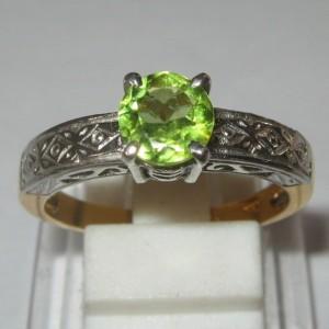 Peridot Statment Ring ASR04 Untuk Pernikahan Awet