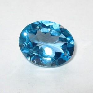 Batu Permata Siwss Blue Topaz 2.93 carat Oval