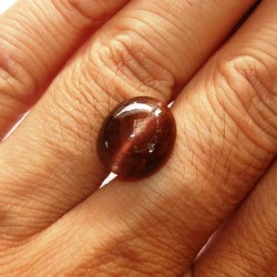 Reddish Brown 5.80cts Cat Eye Spectrolite