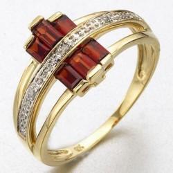 Cincin GF Ring 7US Modern Garnet CZ