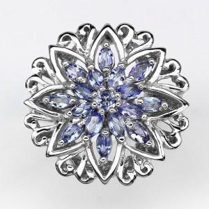 Fine Tanzanite Silver 925 Ring 7US