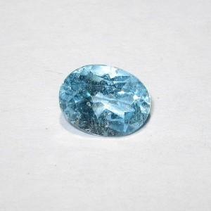 Batu Permata Light Blue Topaz 1.50 carat Indah Bersinar