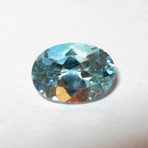 Batu Permata Light Blue Topaz 1.00 carat