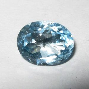 Permata Light Blue Topaz 1.35 carat dari Brazil