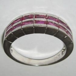 Cincin Pria Silver 925 Model Ruby CZ