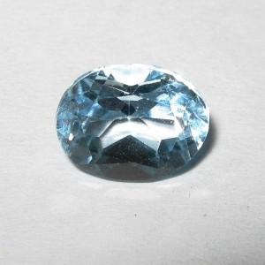 Batu Permata Topaz Light Blue 1.90 carat Indah Alami