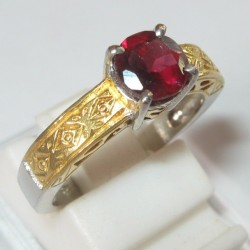 Cincin Pyrope Garnet Ring 6.5US