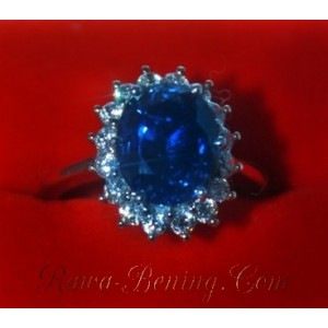 Blue Saphire - White Gold Ring