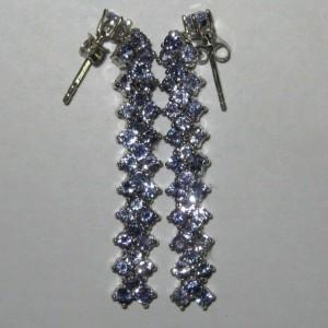 Anting Permata Tanzanite Silver 925