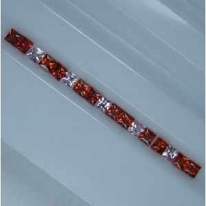 Orange dan Pink Sapphire 2.2mm Square 17 pcs