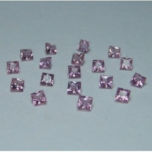 Pinkish Purple Ceylon Sapphire 2mm 18 pcs