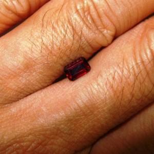 Rectangular Garnet 0.8 carat