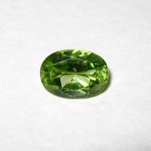 Batu Permata Oval Peridot 0.85 carat Cantik Alami