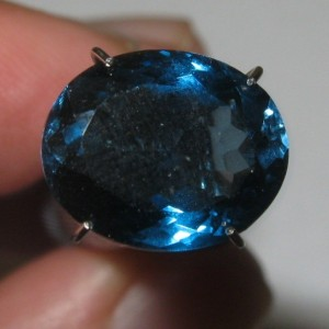London Blue Topaz 5.17 Oval Kualitas Top!