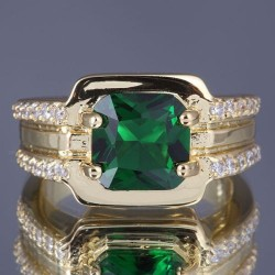 Cincin Gold Filled Model Emerald (CZ)