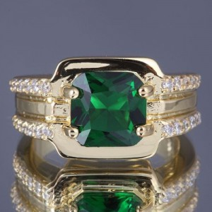Cincin Gold Filled Model Emerald (CZ)