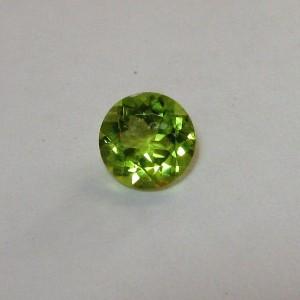 Round Green Peridot 0.89 carat