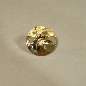Permata Natural Light Yellow Citrine 2.80 carat Round Cut