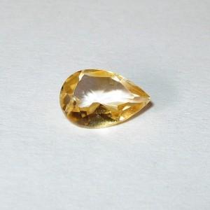 Batu Permata Citrine 0.80 carat Pear Shape