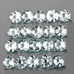 Aquamarine 2.5mm x 20 pcs Round