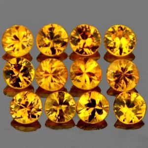 Yellow Golden Sapphire 1.8mm x 30 pcs untuk micro setting perhiasan