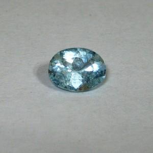 Oval Sky Blue Topaz 1.45 carat, permata hiasan cincin fashion